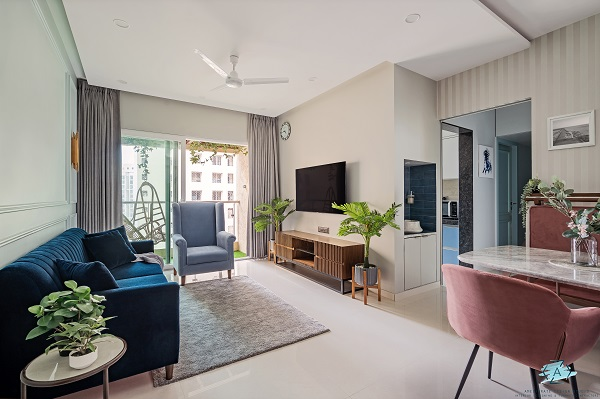 R Project by Ameliorate Design Studio is a chic play of pastels