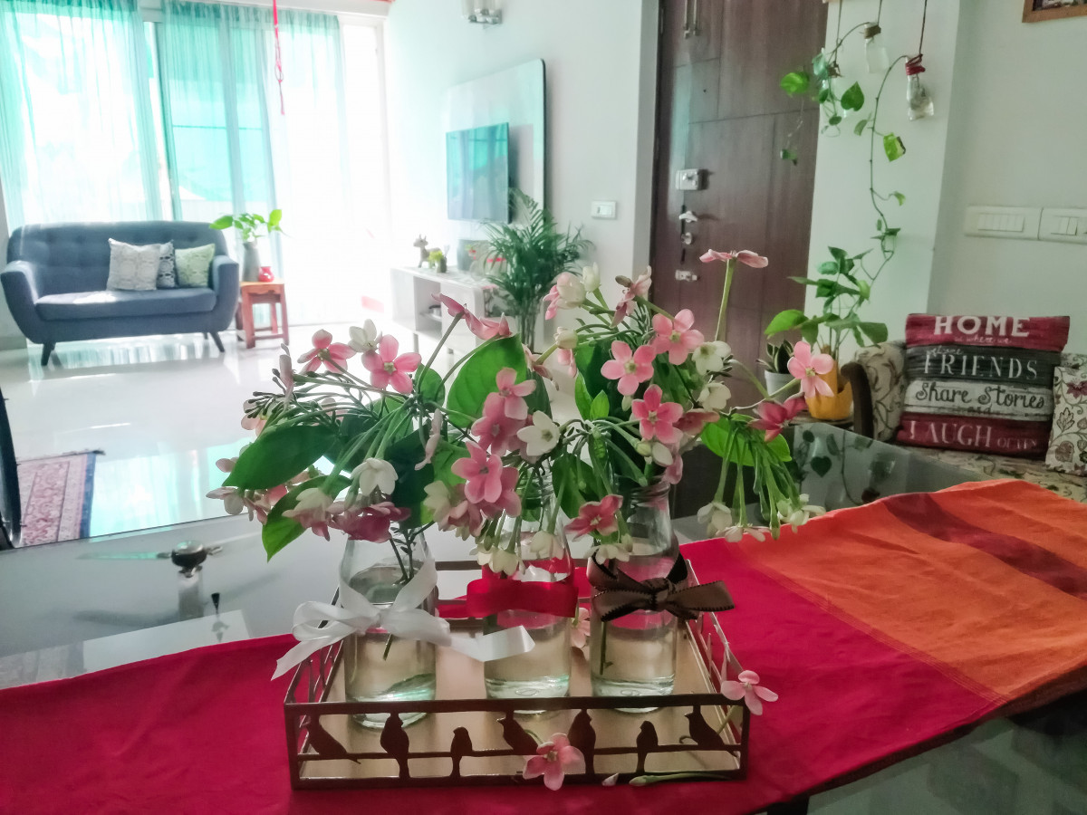 home decoration with flowers