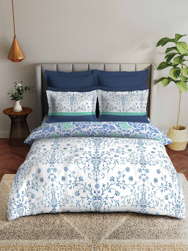 Dress up your bed with these fabulous bed linens in colorful tones for rainy days