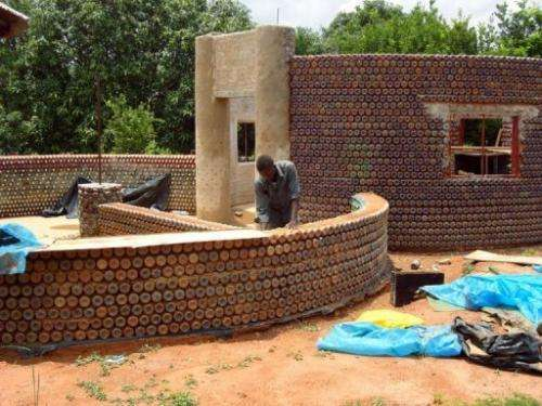Plastic bottles are being used to construct houses and schools in Nigeria
