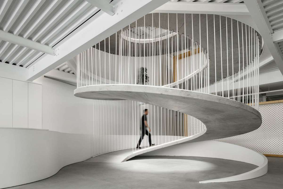 Stairs in an office can be a sculptural piece