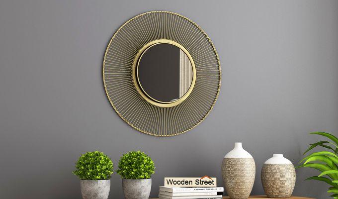 Design Dekko  woodenstreet drape mirror