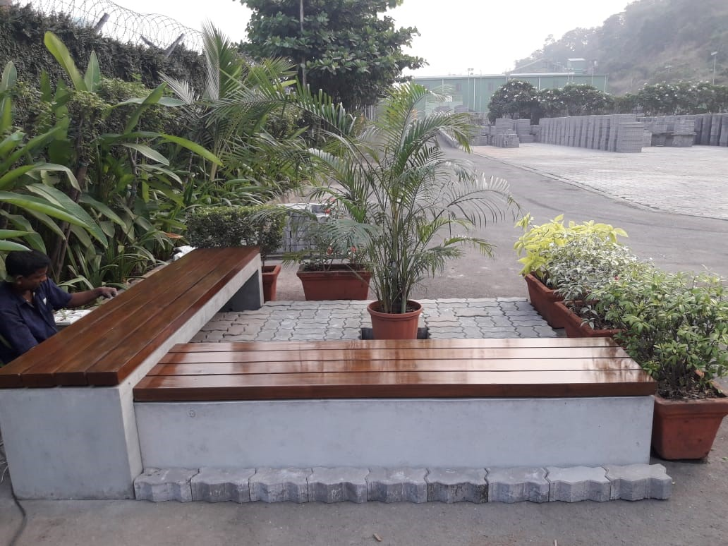 Godrej Construction Recycled concrete slabs