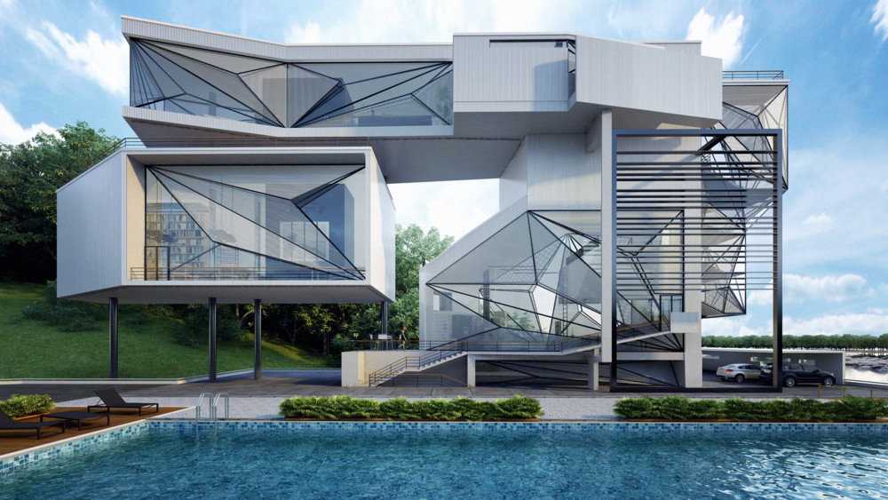 An exclusively designed home using airplane components