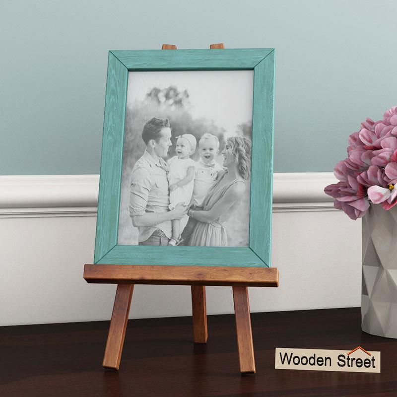 woodenstreet artisa cyan photo frame design dekko
