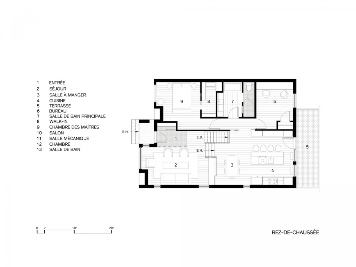 Main Floor plan   Photo credit: DESK architectes