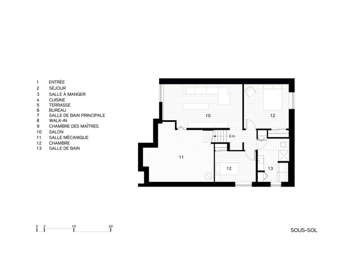 Ground Floor plan   Photo credit: DESK architectes