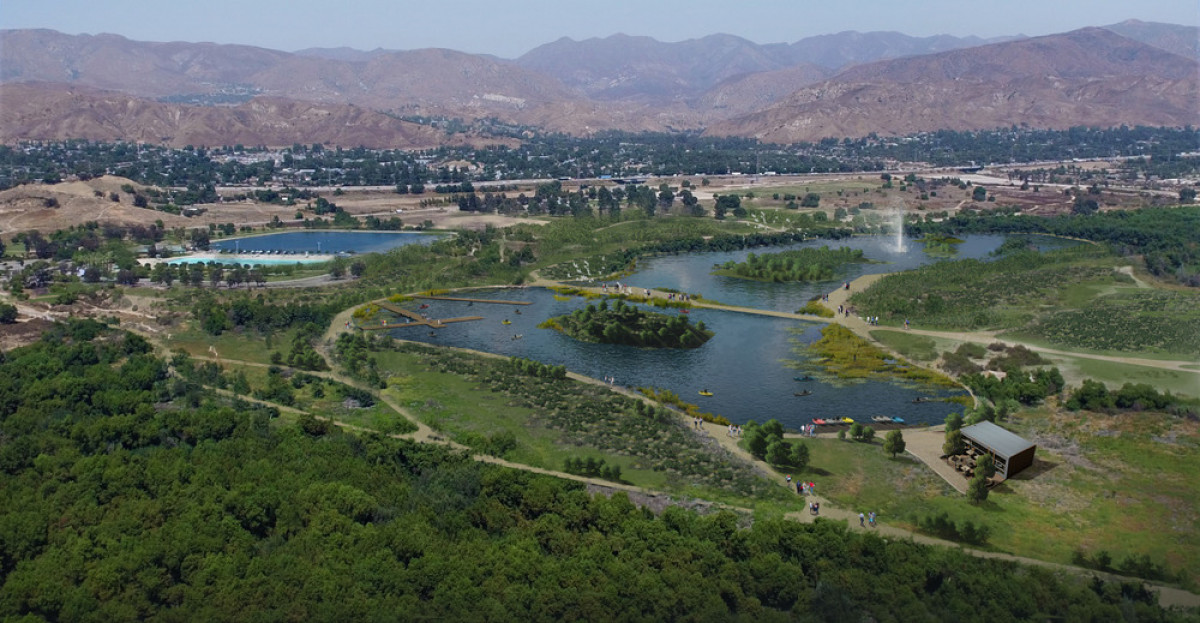 Tujunga (Hansen Dam Park), a proposed project site for Upper Los Angeles River and Tributaries Revitalization Plan (ULART), creating a comprehensive framework with 300-plus project site opportunities for the Upper Los Angeles River and its tributaries. P