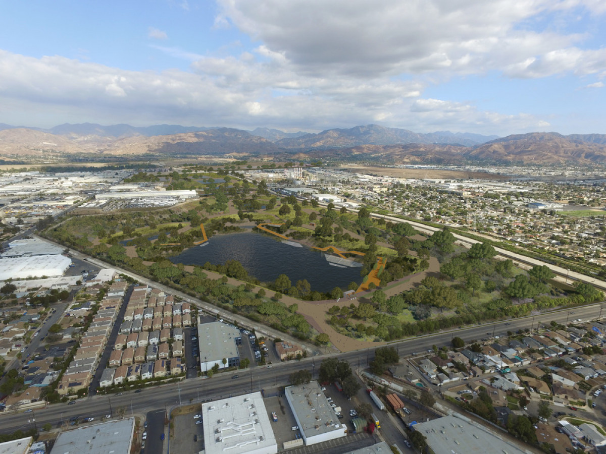 Tujunga Spreading Grounds, a proposed project site for Upper Los Angeles River and Tributaries Revitalization Plan (ULART), creating a comprehensive framework with 300-plus project site opportunities for the Upper Los Angeles River and its tributaries. Ph